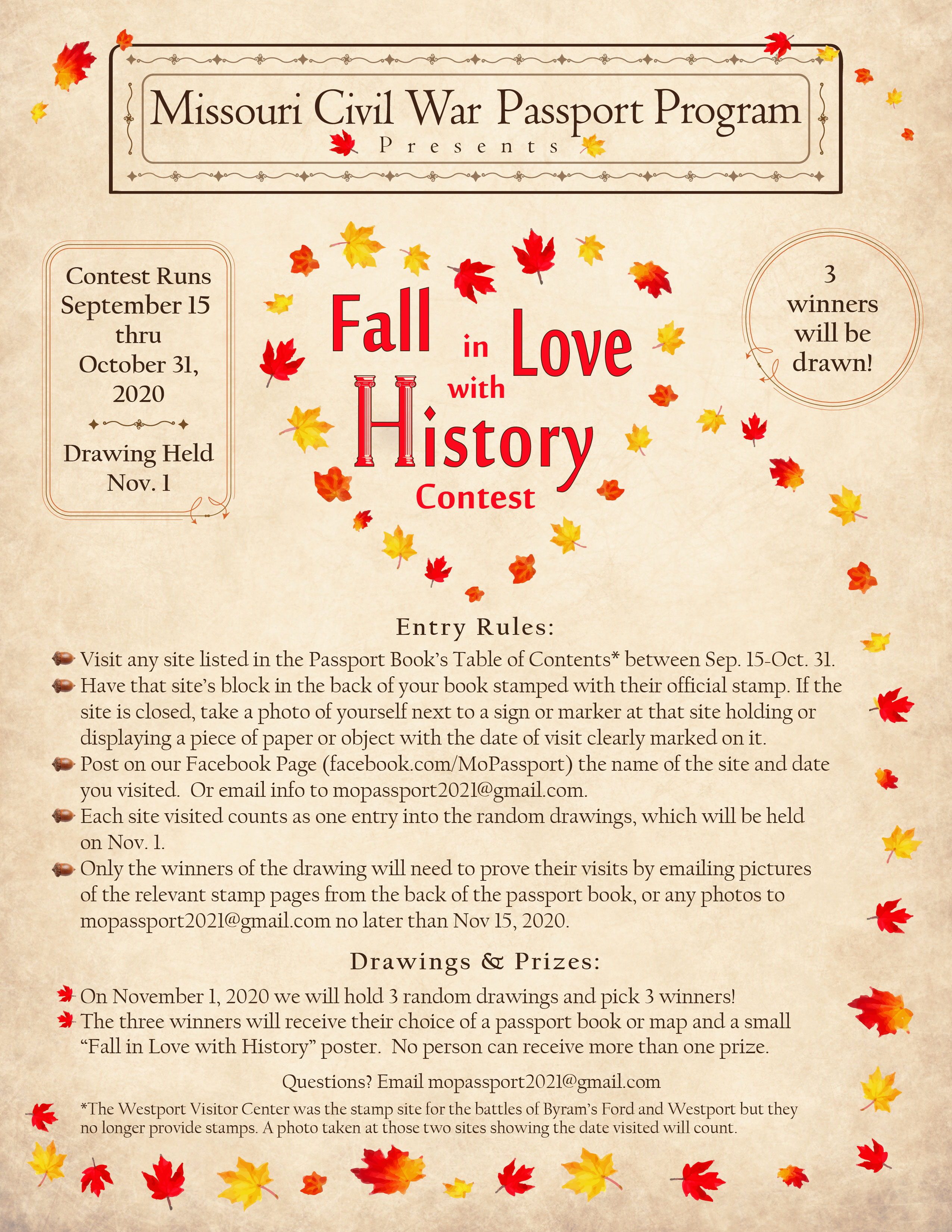 Fall in Love with History Contest