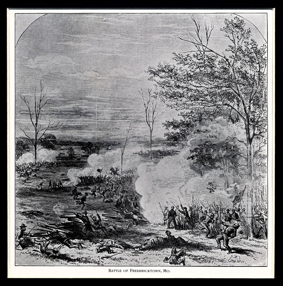 Battle of Fredericktown drawing