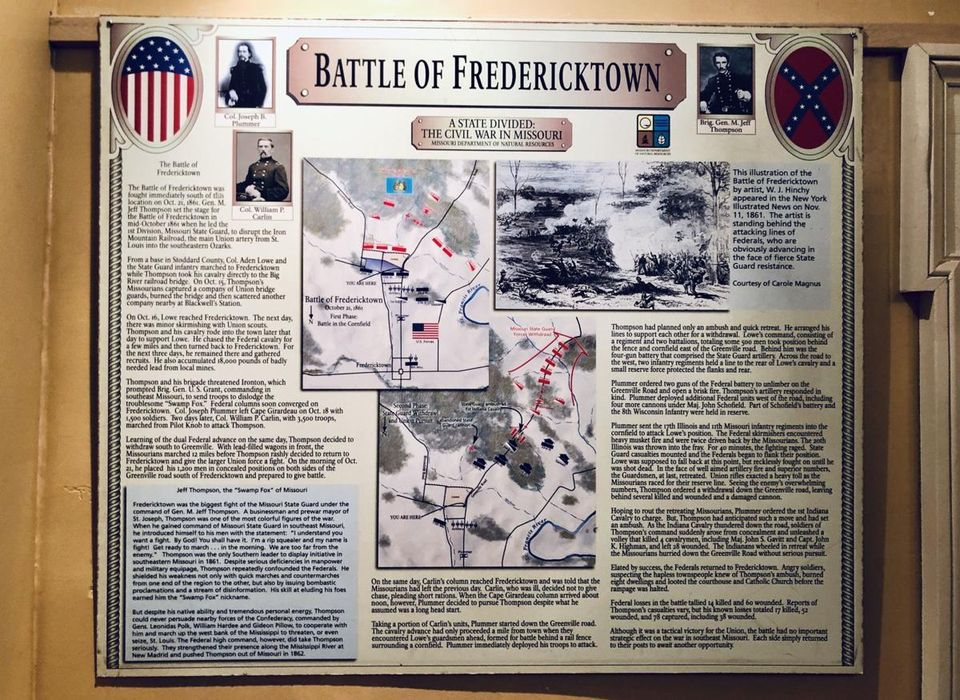 Fredericktown Plaque