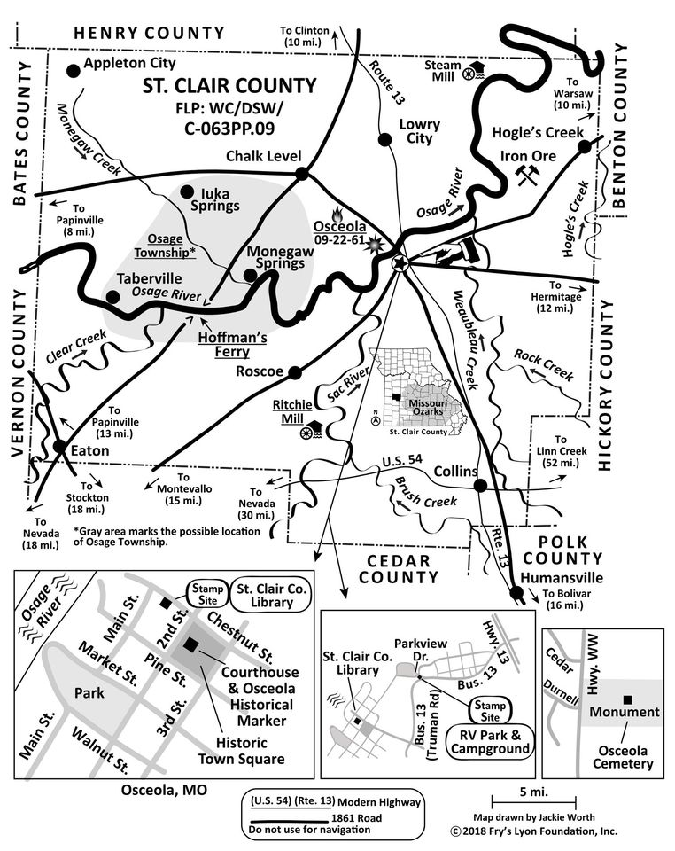 St. Clair Co map