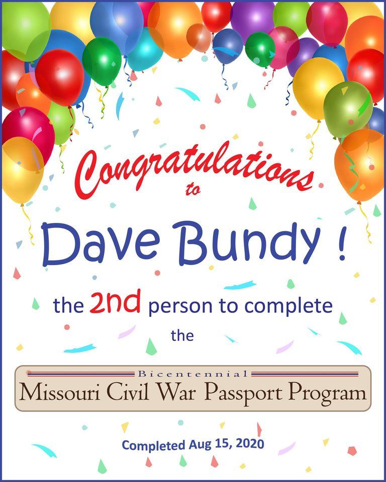 Dave Bundy Congrats