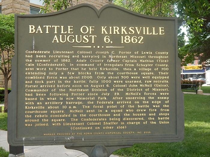 KIrksville sign